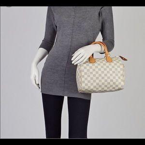 Authentic Speedy Louis Vuitton 25 azur